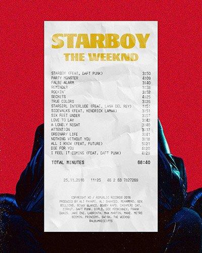 Album Receipt - Starboy