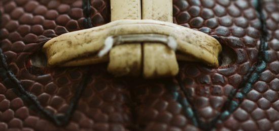 Close up of football